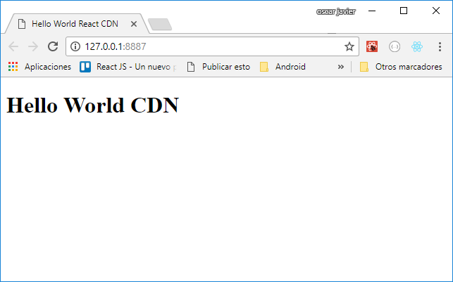 Hello Word React CDN