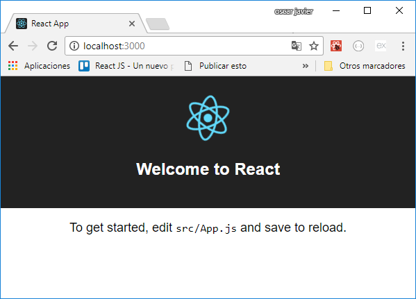 Hello Word React create-react-app2