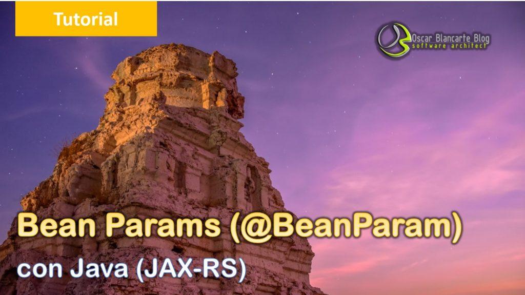 Bean Params con @BeanParam