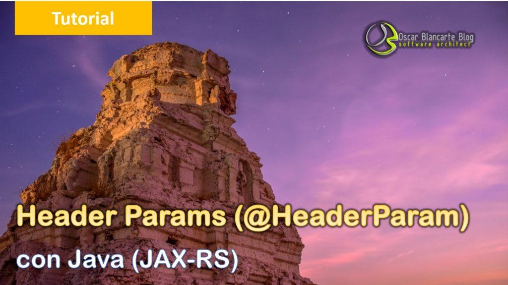 Header params con @HeaderParam